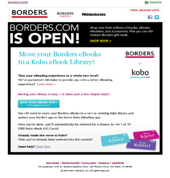 BORDERS & KOBO